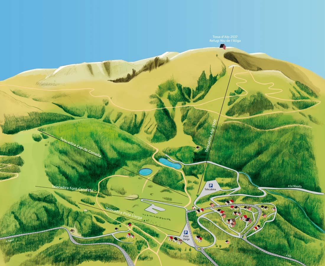 La Molina Mapa Actividades
